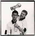 David Baddiel; Frank Skinner, by Trevor Leighton - NPG x87551
