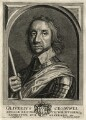 Oliver Cromwell, by Frederik Bouttats the Younger, after  Robert Walker - NPG D16577