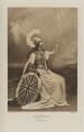 Edith Amelia (née Ward), Lady Wolverton as Britannia, by Lafayette (Lafayette Ltd), photogravure by  Walker & Boutall - NPG Ax41044