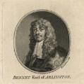 Henry Bennet, 1st Earl of Arlington, by Jacobus Houbraken, after  Sir Peter Lely - NPG D16723