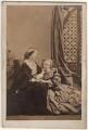 Elizabeth Catherine (née Gubbins), Viscountess Falkland; Diana de Vere (née Beauclerk), Lady Huddleston, by Camille Silvy - NPG x22324
