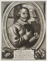 Oliver Cromwell with severed head of King Charles I, by Unknown artist - NPG D19907