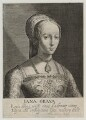 Lady Jane Grey, by Magdalena de Passe, by  Willem de Passe, after  Hans Holbein the Younger - NPG D19952