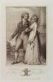 King George IV; Caroline Amelia Elizabeth of Brunswick, by Michael Sloane, published by  Luigi Schiavonetti, after  Richard Cosway - NPG D20038