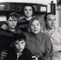Tom Weldon; Sam Weldon; Dan Weldon; Fay Weldon; Nicolas Weldon, by Angela Williams (Angela Coombes) - NPG x68823