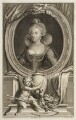 Anne of Denmark, by Jacobus Houbraken, after  Cornelius Johnson - NPG D20149