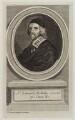 Sir Edward Nicholas, possibly by George Vertue, after  Adriaen Hanneman - NPG D20203