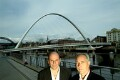 Jim Eyre; Christopher John ('Chris') Wilkinson (Wilkinson Eyre Architects), by Steve Speller - NPG x126780