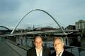 Jim Eyre; Christopher John ('Chris') Wilkinson (Wilkinson Eyre Architects), by Steve Speller - NPG x126780