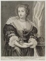 Henrietta Maria, by Joseph Antoine Couchet, published by  Gillis Hendricx, after  Sir Anthony van Dyck - NPG D20299