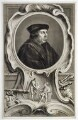 Thomas Cromwell, Earl of Essex, by Jacobus Houbraken, published by  John & Paul Knapton, after  Hans Holbein the Younger - NPG D20420