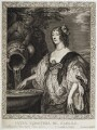 Lucy Hay (née Percy), Countess of Carlisle, by Pierre Lombart, after  Sir Anthony van Dyck - NPG D20438