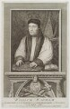 William Warham, by George Vertue, after  Hans Holbein the Younger - NPG D20487