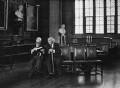 Quintin McGarel Hogg, 1st Baron Hailsham of St Marylebone; Alfred Thompson ('Tom') Denning, Baron Denning, by Anne-Katrin Purkiss - NPG x29210