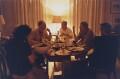 'At Dinner' (Frank Auerbach; Lucian Freud; David Hockney), by David Dawson - NPG x126307