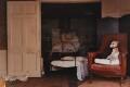 'Eli on the red chair', by David Dawson - NPG x126313