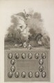 'Commemoration of the 11th October 1797', by George Noble, and by  James Parker, published by  Robert Bowyer, and published by  John Edwards, after  Robert Smirke, after  John Smart - NPG D17018
