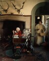 Sir David John Montagu Douglas Scott; Valerie Finnis (later Lady Montagu Douglas Scott), by Norman Parkinson - NPG x30156