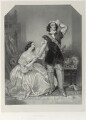 Charles John Kean and Eleanora ('Ellen') Kean (née Tree) as Sir Walter and Lady Amyott in Lovell's 'The Wife's Secrets', by Richard James Lane, after  Alfred Edward Chalon - NPG D22014
