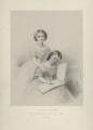 Princess Helena Augusta Victoria of Schleswig-Holstein; Princess Louise Caroline Alberta, Duchess of Argyll, by Richard James Lane, printed by  M & N Hanhart, after  Ann Mary Newton (née Severn) - NPG D22135