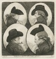 'Four Bucks' (Dr Eiston; (Girolamo) Hieronymo Stabilini; Francis Macnab; Captain McKenzie), by John Kay - NPG D20492