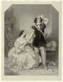 Charles John Kean and Eleanora ('Ellen') Kean (née Tree) as Sir Walter and Lady Amyott in Lovell's 'The Wife's Secrets', by Richard James Lane, after  Alfred Edward Chalon - NPG D22241