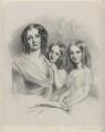 Anna Constantia (née Beresford), Lady Thynne; Selina Thynne; Emily Thynne, by Richard James Lane - NPG D22288
