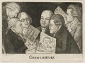 Connoisseurs (William Scott; James Sibbald; George Fairholme; James Kerr; and two imaginary men), by John Kay - NPG D20513