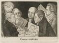 Connoisseurs (William Scott; James Sibbald; George Fairholme; James Kerr; and two imaginary men), by John Kay - NPG D20513