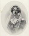 Sara Coleridge, by Richard James Lane, printed by  M & N Hanhart, after  Samuel Laurence - NPG D22537