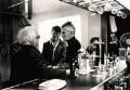 Samuel Beckett and four unknown men, by John Minihan - NPG x28995