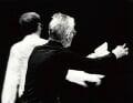 Samuel Beckett and an unknown man, by John Minihan - NPG x29003
