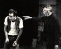 Samuel Beckett and an unknown man, by John Minihan - NPG x29004