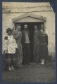 Dora Carrington; Ralph Partridge; Lytton Strachey; Oliver Strachey; Frances Partridge, by Lady Ottoline Morrell - NPG Ax141540