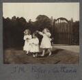 Julian Vinogradoff (née Morrell); John Frederic Roger Peel; Catherine Emma Eastwood (née Peel), possibly by Lady Ottoline Morrell - NPG Ax140249
