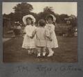 Julian Vinogradoff (née Morrell); John Frederic Roger Peel; Catherine Emma Eastwood (née Peel), possibly by Lady Ottoline Morrell - NPG Ax140250