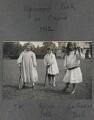Julian Vinogradoff (née Morrell); John Frederic Roger Peel; Catherine Emma Eastwood (née Peel), by Lady Ottoline Morrell - NPG Ax140297