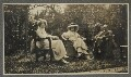 (Helen) Violet Bonham Carter (née Asquith), Baroness Asquith of Yarnbury; Lady Ottoline Morrell and an unknown man, by Unknown photographer - NPG Ax140420