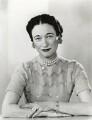 Wallis, Duchess of Windsor, by Dorothy Wilding - NPG x29433
