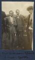 Eric Dickinson; Edward Joseph Harrington O'Brien; Mark Gertler, by Lady Ottoline Morrell - NPG Ax140453
