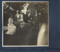 Lady Ottoline Morrell with friends, by Unknown photographer - NPG Ax140491