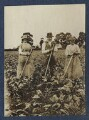 Clive Bell and two farm workers, by Lady Ottoline Morrell - NPG Ax140518