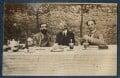 Lytton Strachey; Bertrand Arthur William Russell, 3rd Earl Russell; Philip Edward Morrell, by Lady Ottoline Morrell - NPG Ax140632
