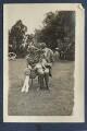 Dorothy Brett; Aldous Huxley with Lady Ottoline Morrell's pug Soie, by Lady Ottoline Morrell - NPG Ax140686