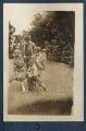 Dorothy Brett; Mark Gertler; Aldous Huxley with Lady Ottoline Morrell's pug Soie, by Lady Ottoline Morrell - NPG Ax140687