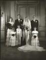 The wedding of Sir John Heathcoat Amory and Joyce Wethered, by Bassano Ltd - NPG x124406