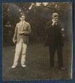 T.S. Eliot; Sir John Tresidder Sheppard, by Lady Ottoline Morrell - NPG Ax140846