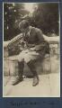 Siegfried Loraine Sassoon with Lady Lady Ottoline Morrell's pug Soie, by Lady Ottoline Morrell - NPG Ax140881