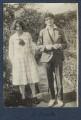 Julian Vinogradoff (née Morrell); Mark Gertler, by Lady Ottoline Morrell - NPG Ax140908