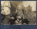 Philip Edward Morrell with his dog Nutty, by Lady Ottoline Morrell - NPG Ax140536